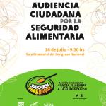 cartel de la audiencia ciudadana por al soberanía alimentaria