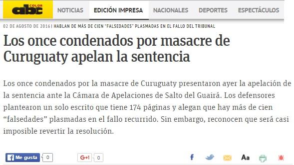 Los once condenados por masacre de Curuguaty apelan la sentencia ...